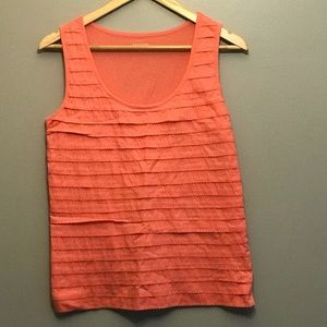 3/$15 Land's End Coral Pleated Tank